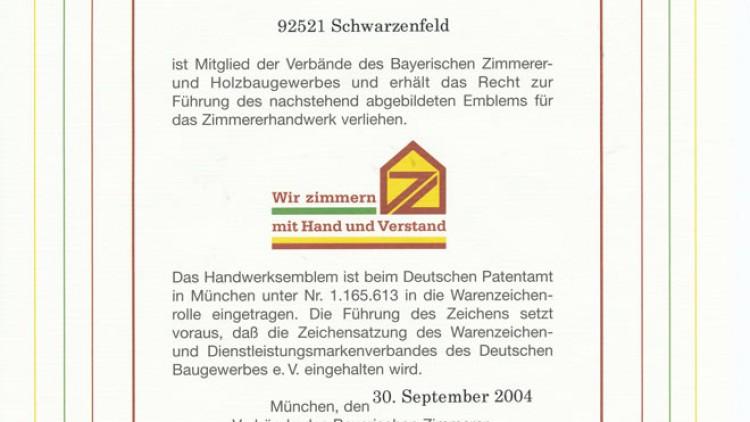 Bayerisches Zimmerei- und Holzbaugewerbe